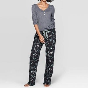 STARS ABOVE WOMEN'S FLORAL PRINT 2 PC PAJAMA SET